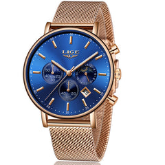 Valentine's Day Present Clock Women LIGE  Watch Business Quartz Watches Ladies Top Brand Luxury Watch Female Girl  Wrist Watch - Slabiti