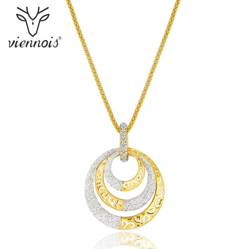 Viennois New Mixed Color Hollow Out Necklace For Women Fashion Party Jewelry Necklace 2018 - Slabiti