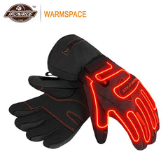 WARMSPACE Heated Gloves Waterproof Motorcycle Gloves Battery Powered Riding Windproof Moto Gloves Touch Screen Gant Moto - Slabiti