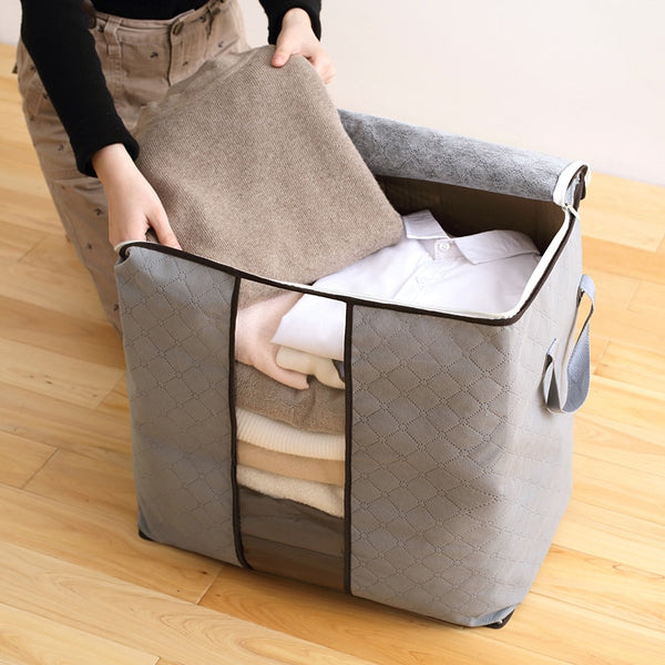 Wholesale Home Storage Foldable Bag New Waterproof Oxford Fabric Bedding Pillows Quilt storage bag clothes storage bag organizer - Slabiti