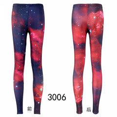 Women Colorful Universe Leggings Galaxy Space Painted Pants Elasticity Fashion Quickly Drying Capris drop ship - Slabiti