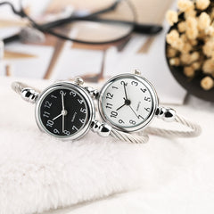 Women Watch Creative No Buckle Bracelets Bangles Band Quartz Wristwatch Slim Casual Black Dial Ladies Novel Sport Clock 2018 - Slabiti
