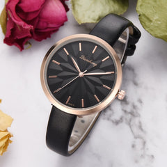 Women Watches Simple Ladies Watch New Dial Luxurious Fashion Leather Strap Bracelet Quartz Clock relogio feminino reloj mujer - Slabiti