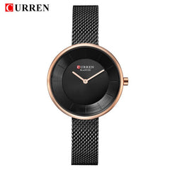 Women's Quartz Watch Fashion Simple Stainless Steel Wristwatches 2018 Luxury Brand CURREN New Water Resistant 99FT Montre Femme - Slabiti