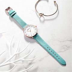 Womens Watches Slim Leather Quartz Watch For Women CURREN Ladies Diamond Wristwatch Female Clock Girls Gift Relogio Feminino - Slabiti
