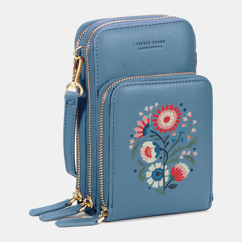 Flower Phone Bag Solid Crossbody Bag Shoulder Bag For Women - Slabiti