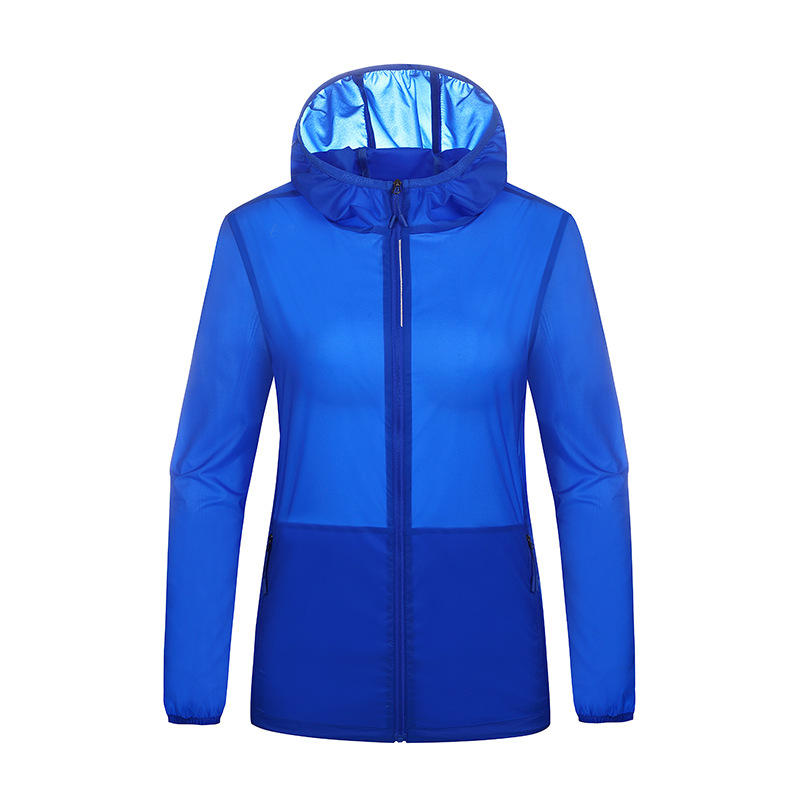 Mens Sport Nylon Breathable Fast Drying Zipper Fly Solid Color Outdoor Coats - Slabiti