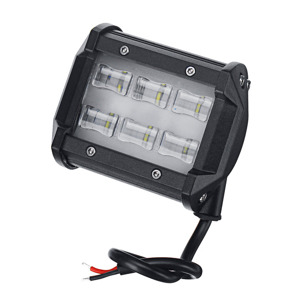 2Pcs 6D 6 LED 18W 6000K Work Light Spot Beam Boat Truck Offroad 4WD SUV White Lamp IP67 - Slabiti