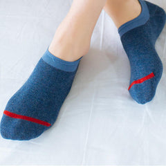 Mens Cotton Invisible No Show Socks Soft Breathable Low-Cut Ankle Sock - Slabiti