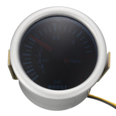 Universal 2 Inch 52mm Car Auto LED Digital Smoke Len Boost Bar Gauge Meter 12V - Slabiti
