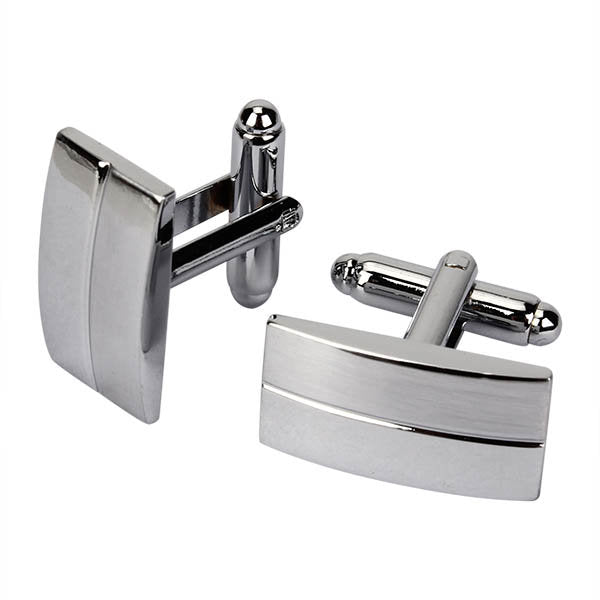 Men Cufflinks Metal Drawing Smooth Cufflinks for Wedding Decoration - Slabiti