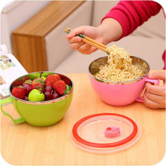 1 Pc Stainless Steel Anti-Scalding Bowl Lunch Box - Slabiti