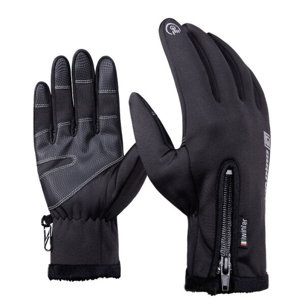 Waterproof Touch Screen Gloves For Motorcycle Cycling Skiing Men Black S M L XL 2XL - Slabiti