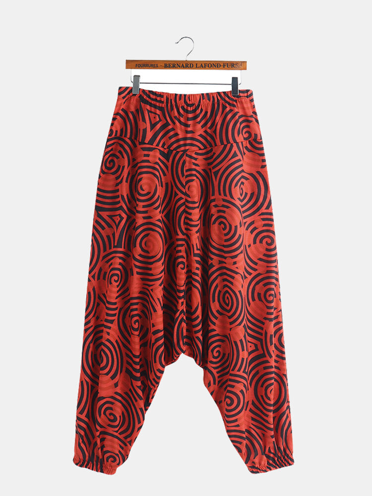 INCERUN Mens Comfy Harem Ethnic Style Loose Baggy Casual Wide Leg Pants Trousers - Slabiti