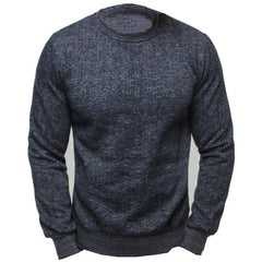 Mens Fashion Solid Color Long Sleeve Tops O Neck Slim Fit Casual T-shirts - Slabiti