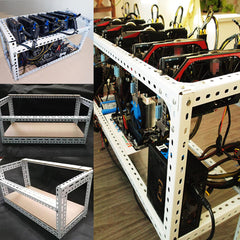 DIY Aluminum Frame For 4 GPU Mining Crypto-currency Mining Rigs - Slabiti