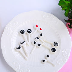 10pcs Mini Cartoon Ant Eye Fruit Fork set for Party Cake Dessert  Food Toothpick Novelties Toys - Slabiti