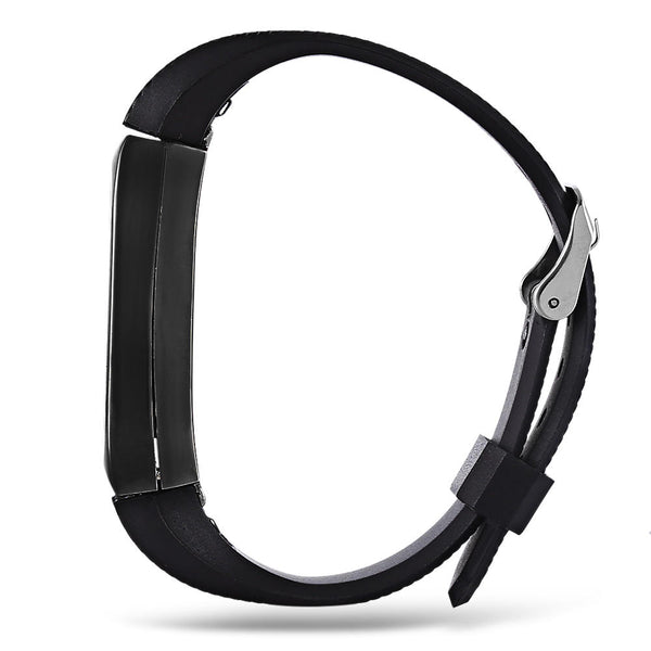 Replacement 14mm Rubber Strap Metal Case  Bracelet Wristband for Xiaomi Miband 2 - Slabiti