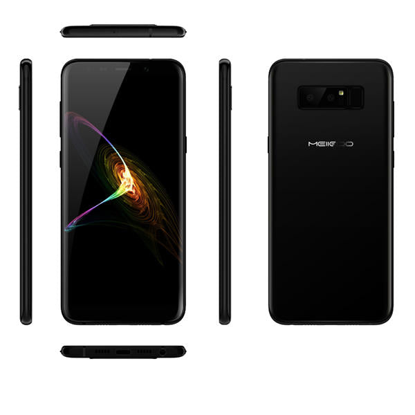 Meiigoo Note 8 5.99 Inch 3.0D Curved Glass Face ID 4GB RAM 64GB ROM MT6750T 1.5GHz 4G Smartphone - Slabiti