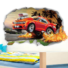 Miico 3D Creative PVC Wall Stickers Home Decor Mural Art Removable Car Decor Sticker - Slabiti