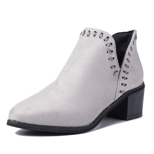 Women Pointed Toe Ankle Booties Chelsea Boots - Slabiti