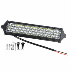 10V-30V 402W 134 LED 10 Inch Tri-Row LED Work Lights Bar Spot Beam For Offroad Truck Boat 6000K Waterproof IP67 - Slabiti