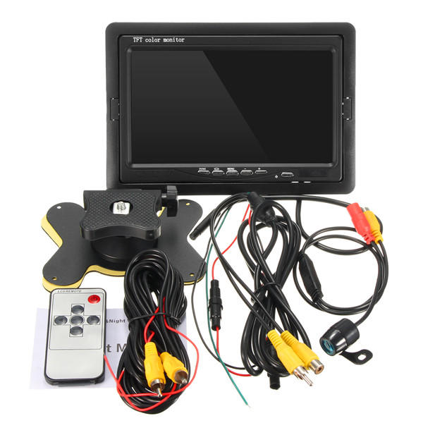 7 Inch Car Rear View TFT LCD Monitor + 170 Waterproof Reverse Back Parking Camera - Slabiti