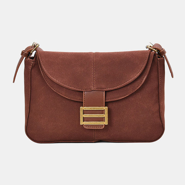 Women Frosted PU Solid Casual Shoulder Bag Crossbody Bag - Slabiti