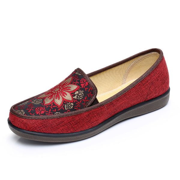 Soft Flower Slip On Comfy Flat Casual Loafers