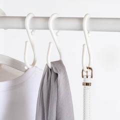 U 10Pcs S Shape Double Hooks White Clothes Hanger For Bathroom Kitchen Bedroom from Xiaomi Youpin - Slabiti