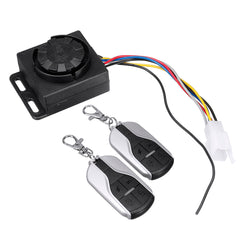 48V-72V 125dB Anti-theft Motorcycle Scooter Alarm 2 Remote Control Security System - Slabiti