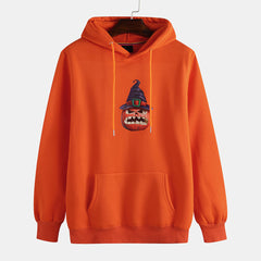 Halloween Mens Hooded Overhead Long Sleeve Casual Sweatshirt - Slabiti