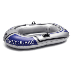 One/Two Person Fishing Boat Inflatable Kayak Canoe Rowing Air Boat Double Valve Drifting Diving Accessory - Slabiti