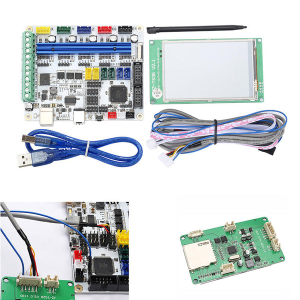 F5 V1.1 Mainboard Based on RAMPS + 3.5inch Colorful LCD Display Kit - Slabiti