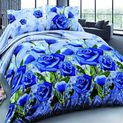 4Pcs 3D Blue Enchantress Printed Bedding Sets Quilt Cover Bed Sheet Pillowcases - Slabiti