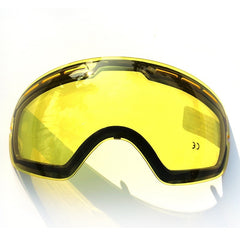 COPOZZ Original Brightening Lens For Ski Goggles Night Model GOG-201 Yellow Lens For Weak Light Tint Weather Cloudy - Slabiti
