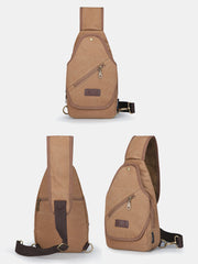 Men Vinatge Chest Bag Shoulder Bag Crossbody Bag For Outdoor - Slabiti