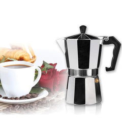 Aluminum Moka Espresso Latte Percolator Stove Coffee Maker Pot Coffee Percolators - Slabiti