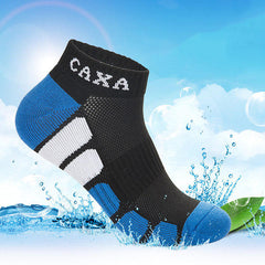 Men Outdooors Sports Running Mesh Breathable Quick Drying Socks - Slabiti