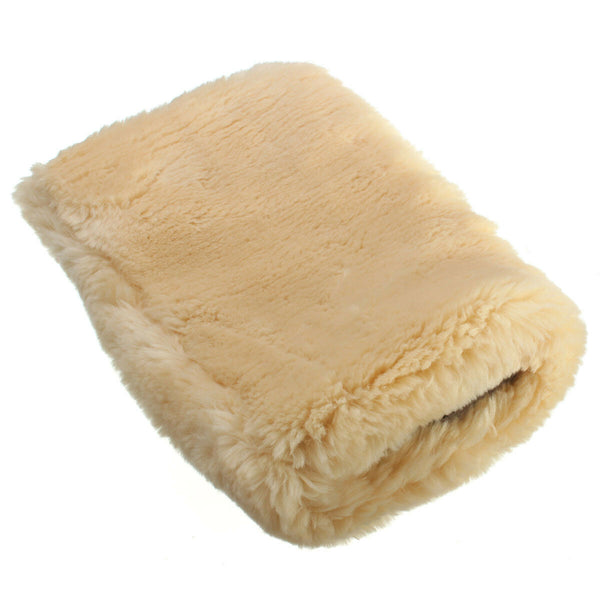 24x16cm Motor Auto Home Clean Washing Glove Buffing Polishing Mitt Lambswool Wool - Slabiti