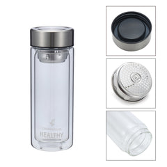 300ml Double Wall Water Glass Bottle Mug Filtration Water Bottles - Slabiti