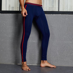 Men's Autumn and Winter Thermal Underwear Pants Cotton Sleepwear Long John - Slabiti