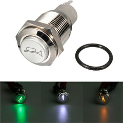 12V 16mm Car Boat LED Light Momentary Horn Button Switch 3 Color - Slabiti