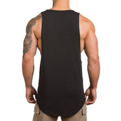 Mens Summer Sleeveless Cotton Breathable Sweat Loose Fit Workout Tank Tops - Slabiti