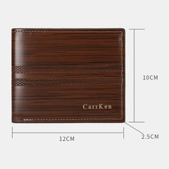 Men Faux Leather Fashion Wallet Card Holder - Slabiti