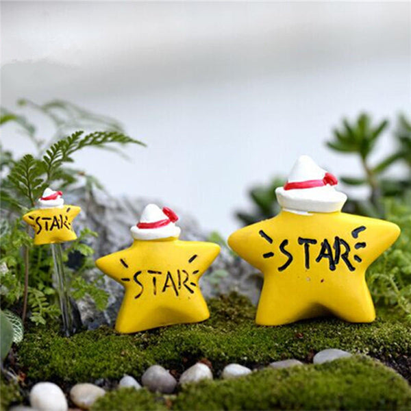 Micro Yellow Star Landscape Resin Potted Plant Microlandschaft Garden DIY Ornaments - Slabiti