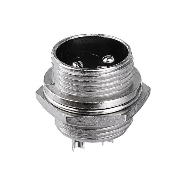 1Set GX16-2 Pin Male And Female Diameter 16mm Wire Panel Connector GX16 Circular Aviation Connector Socket Plug