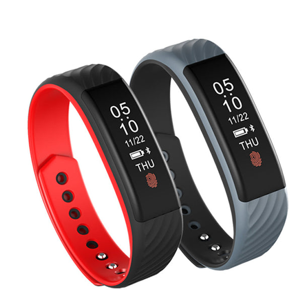 W810 0.84inch Heart Rate Monitor Fitness Sleep Tracker Call Reminder Smart Wristband - Slabiti