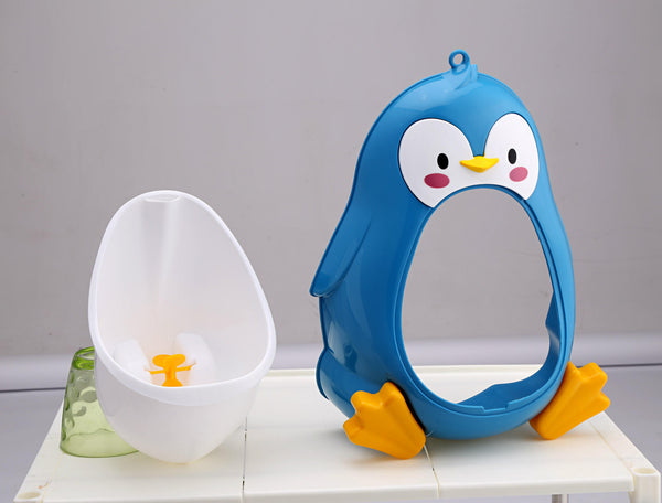 Baby Urinal Toddler Potties Boys Pee Trainer Children Removable Lovely Penguin Toilet Bathroom - Slabiti