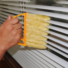 Microfibre Window Shutters Cleaning Brush Vents Clean Air Conditioning Cleaner with 7 Slat Handheld